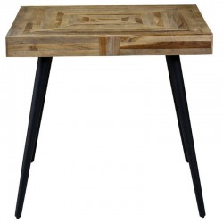 Table meal square 80 x 80 in teak and Metal Moody KosyForm