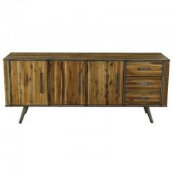 Buffet 3 doors wood and Metal Kusso KosyForm