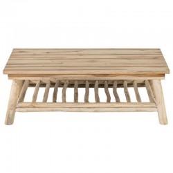 Table low rectangular trays teak KosyForm cottage 2