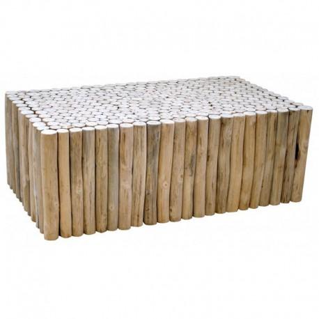 Table Basse Rondin De Bois.Table Basse Rondin En Teck Chalet Kosyform
