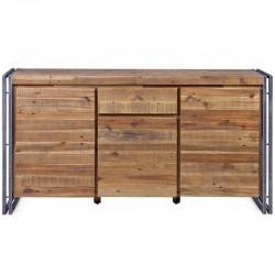 Buffet de madera y Metal 3 puertas 1 cajón Mega KosyForm