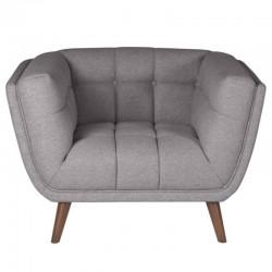 Armchair in fabric Intense gray Meryl KosyForm