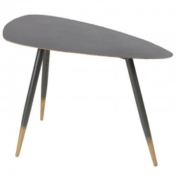Table Basse Design en Métal Noir 80 Ricci KosyForm