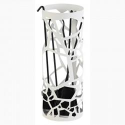 Serviteur Organic Blanc Mat avec Accessoires Noirs Dixneuf Design
