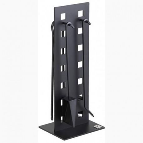 Serviteur SUPER 8 Noir Givré avec Accessoires Noirs Dixneuf Design