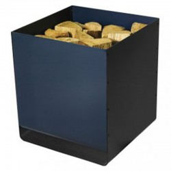 Storage in wood Artemis black frosted-blue night Dixneuf Design