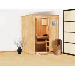 Sauna de vapor finlandesa tradicional angular 2-4 lugares Ulla Prestige - VerySpas exclusivo