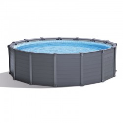 Tubular Intex pool Graphite 417 x 109 round