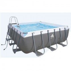 Square pool tubular Jilong Intense with filter sand Passaat gray