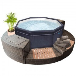 Portable Spa Netspa Octopus 4 to 6 Places with 5 pieces of furniture