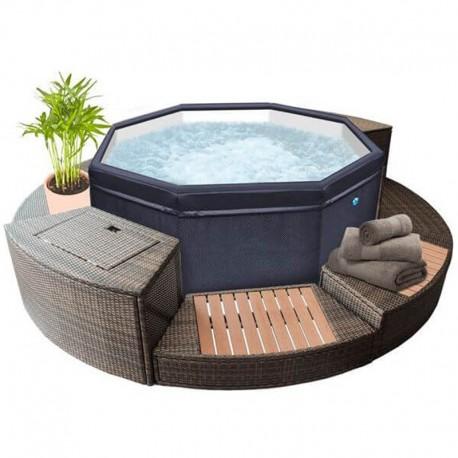 Portable Spa Netspa Octopus 4 To 6, Hot Tub Furniture