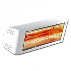 تدفئة IPX5 كارارا 2000W هيليوسا مرحبا تصميم 44 أبيض الأشعة تحت الحمراء