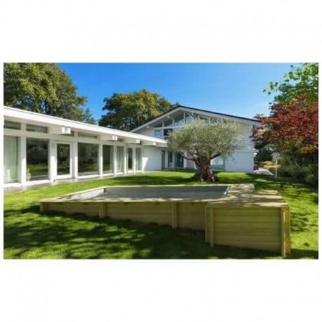 Piscine Urbaine Procopi en Bois 420 x 350 x H 133 Couverture Automatique et Coffre