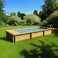 Urban pool Procopi wood 600 x 250 x H 133 automatic cover