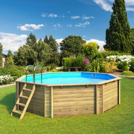 Swimming Pool In Wood Above Ground