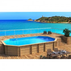 Pool Wood Weva Octagonal Plus 640 x 404 x h133 BWT myPOOL
