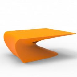 Mesa baja diseño de ala VONDOM naranja MAT