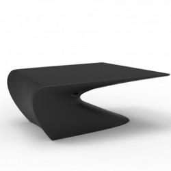 Mesa baja diseño de ala VONDOM negro Matt