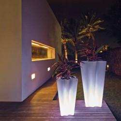 Vaso luminoso Bye Bye VONDOM LED altezza bianca 70