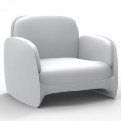 Armchair Vondom lounge Pezzettina white mat