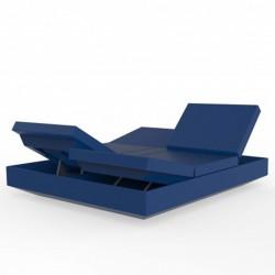 Banquette Transat Vela Daybed Inclinable Vondom Bleu Marine