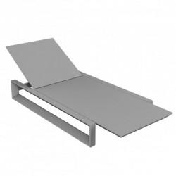 Deckchair longo quadro Vondom cinza esteira de aço