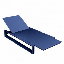 Deckchair long frame Vondom blue mat