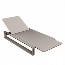 كرسي الكراسي الطويلة فودوم الهيكل الرمادي مات