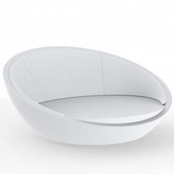 Ulm daybed round shell Vondom white Silvertex 210x200xH97