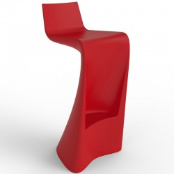 Wing VONDOM Sgabello bar rosso opaco