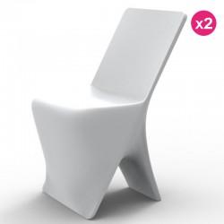 Conjunto de 2 cadeiras Vondom design Sloo branco