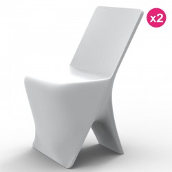 Set of 2 chairs Vondom design Sloo white