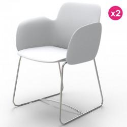 Set di 2 sedie VONDOM Pezzettina bianco opaco e metallo