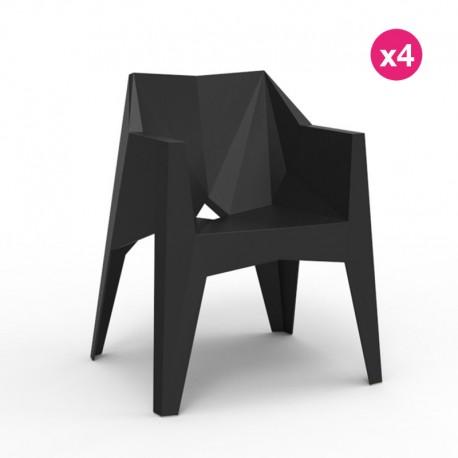 Lot de 4 chaises Voxel Vondom Noir