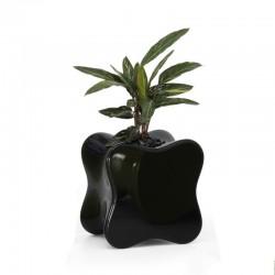 Diseño de mesa baja suave VONDOM negro