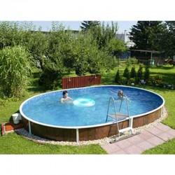 Piscine Ovale Azuro Luxe PoolMarina Autoportante ou Enterrée 5.5x3.7x1.2