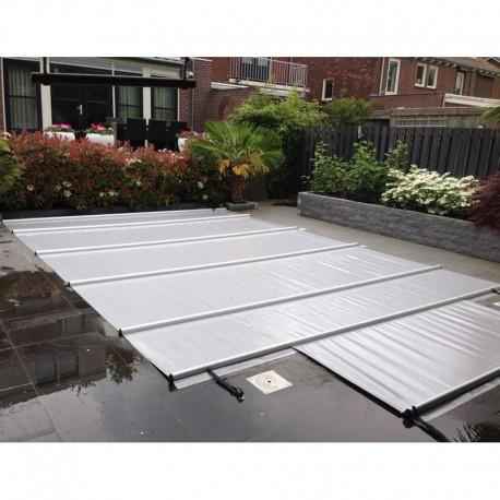 Couverture à barres de piscine CBE-650 9x4 gris