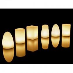 Lot de 8 Lampes Imagilights Collection Tebur avec Led Assorties et Plateau Multi-chargeurs Imagilights