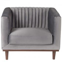 Dante Vintage Grey Dark KosyForm Velvet Chair