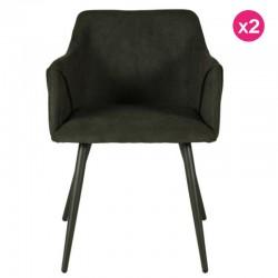 Un sacco di 2 sedie verdi velluto abete Lov KosyForm