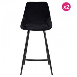 多 2 把椅子 工作计划 黑色天鹅绒和金属卡里科西形式