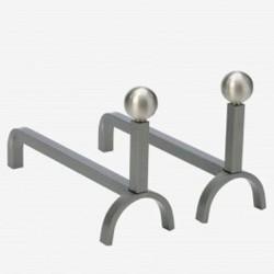 Chenets Promess Grey Steel Dixneuf Design