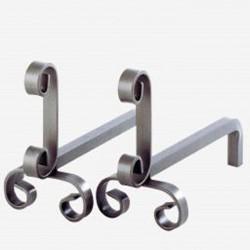Chenets Romance Grey Steel Dixneuf Design