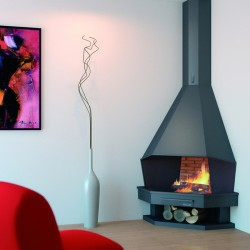 FocGrup Steel Angle Chimney in Steel 11 kw open fire 70