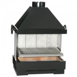 BarBecue Ferlux a Posa o mattoni refrattari e acciaio con Hotte