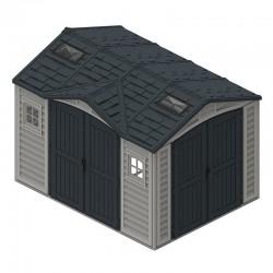 Refugio de jardín Duramax 8m2 10 x 8 PVC antracita gris
