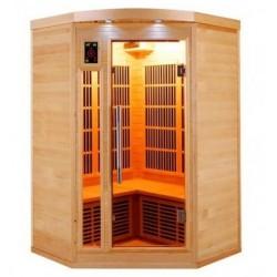 Sauna infrarouge Apollon Quartz 2 à 3 places France Sauna