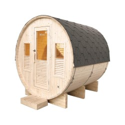 Sauna extérieur Omega 6 places Holl's avec Poêle Harvia 8 kW