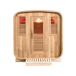 Sauna extérieur Gaïa Nova 6 places Holl's avec Poêle Harvia 8 kW