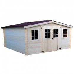 哈布里塔实木花园避难所 7.42 平方米,带钢屋顶